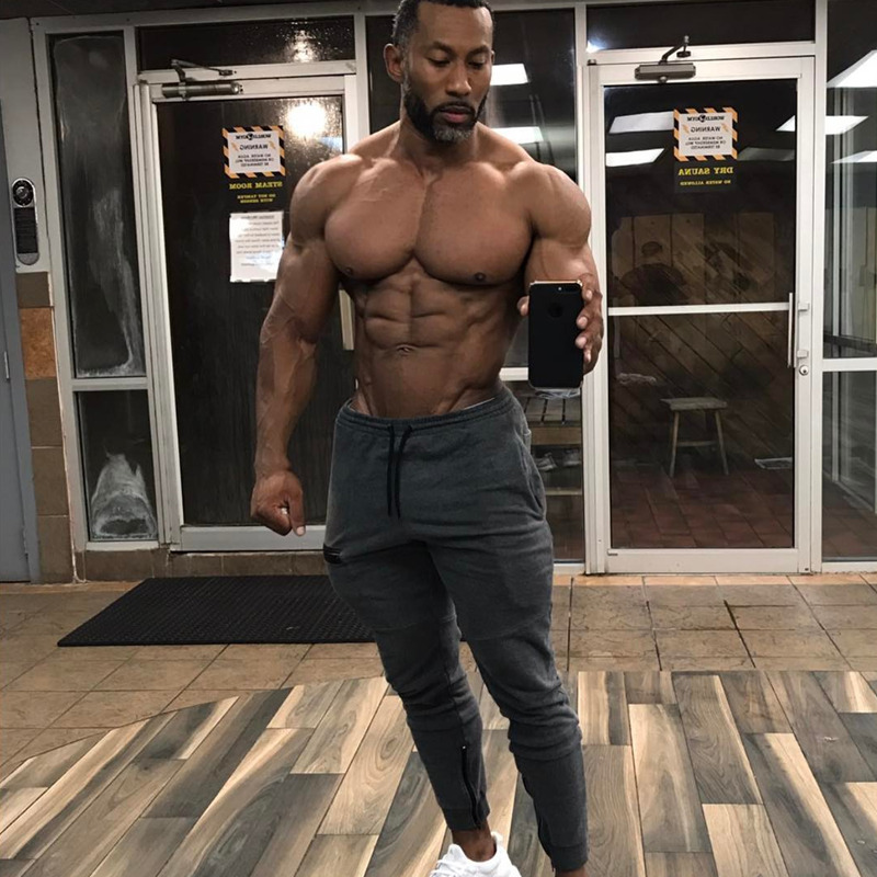 Mens Fitness Sweatpants male gyms Bodybuilding Joggers workout cotton trousers Casual fashion sportswear Brand Pencil pants
