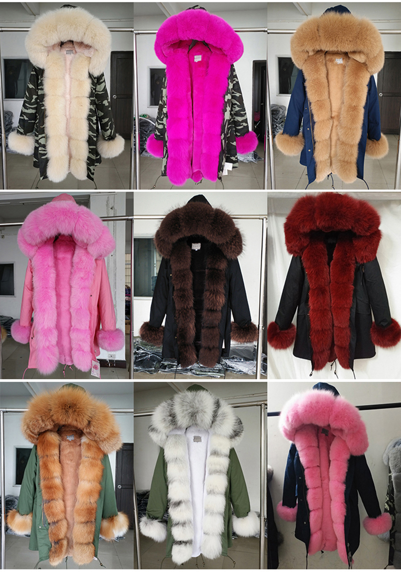 Зимняя куртка с капюшоном из натурального меха купить на Али Экспресс