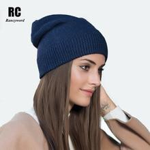 Здесь можно купить  [Rancyword] Winter Cashmere Knitted Hats For Women Thick Warm Beanies Skullies Female Wool Knit Hat Pompom Gorros RC1224  Apparel Accessories