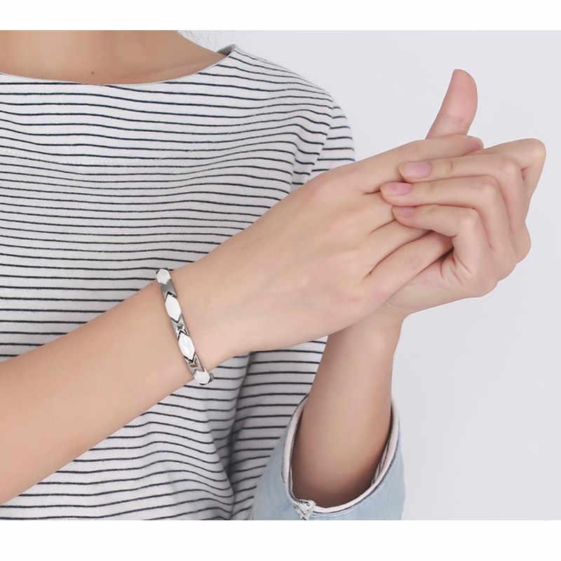 Vnox 磁気ブレスレット女性ホワイトセラミック健康治療長さ調節可能トレンディジュエリー
