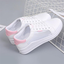 Summer new female sneakers shoes mesh breathable fashion casual white non-slip women