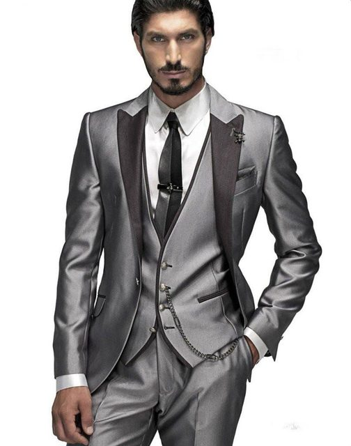 Online Shop 2017 New Arrival Beautiful Light Grey Morning Suits ...
