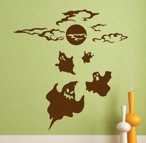 Image 1 - Halloween autoadesivo della parete sticker fantasma di halloween horror ispirazione decorazione della parete del vinile adesivo artista decorazione della casa WSJ02