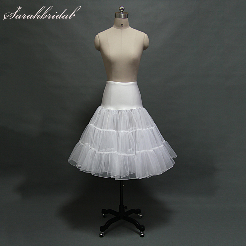 In Stock White Ivory Short Skirt Puffy Wedding Petticoat Tutu Organza Real Photo Cosplay Fast Shipping Women Underskirt 12018