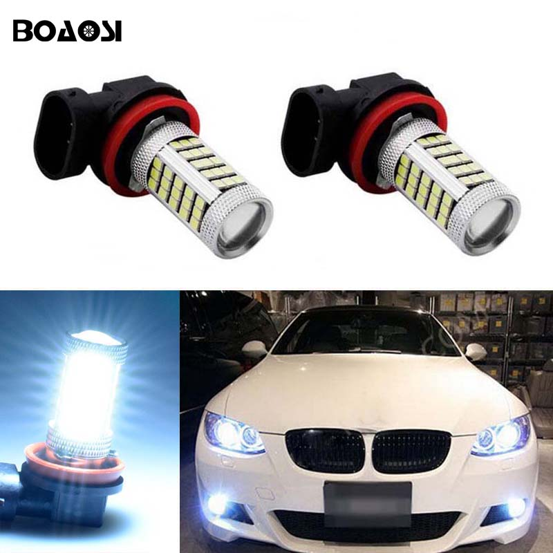 BOAOSI 2x Car Led 9006 HB4 Light Bulb Auto Fog Light Driving Lamp Light For BMW E63 E64 E46 330ci Car Accessories boaosi 2x car led 9006 hb4 2835 66smd light bulb auto fog light driving lamp light for subaru wrx vs sti 2008 2013