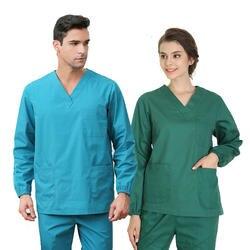 Для мужчин Для женщин медсестра комплекты медицинской униформы Топы с длинными рукавами и штаны стоматолог форма ICU медицинский уход