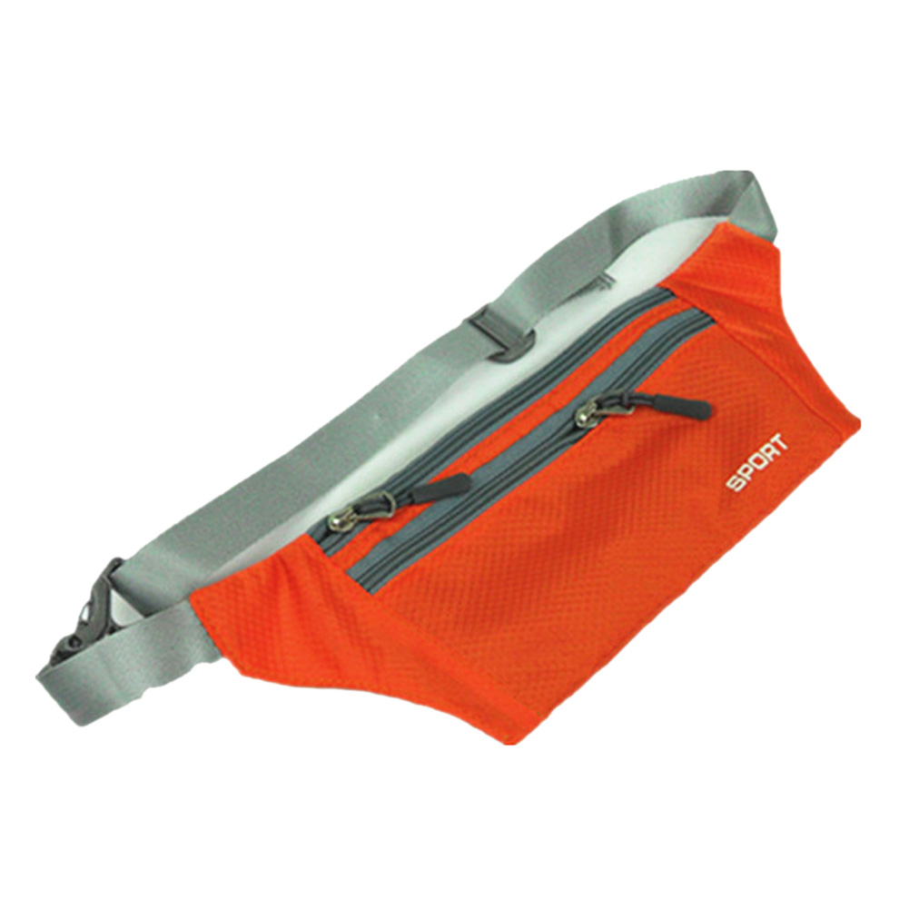 Unisex Bum Bag Travel Handy  Fanny Pack Waist Belt Zip Pouch Orange