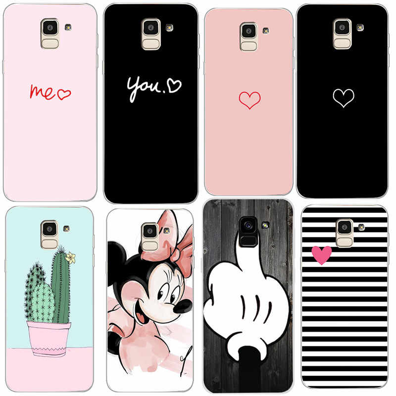 Phone Case For Samsung Galaxy J4 2018 Case Cartoon Soft Silicone Back Cover For Samsung Galaxy J6 J8 A7 2018 A750 J600 J810 Case