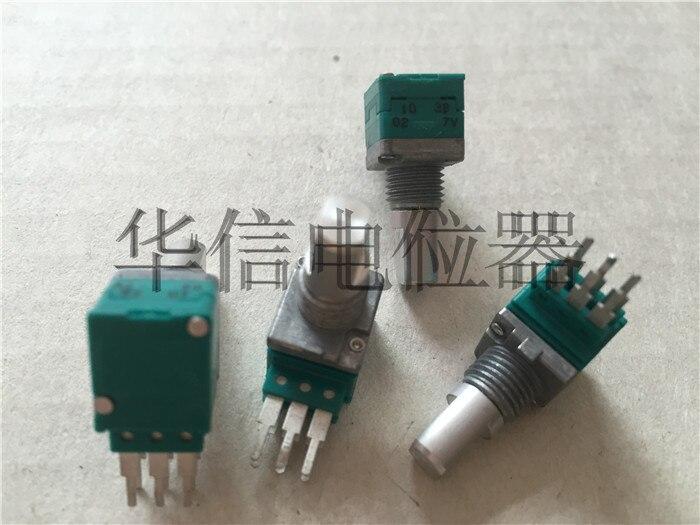 Оригинальный новый 100% RK097G двойной потенциометр B10K для длины стопы с середины длина ручки 15MMH (переключатель)