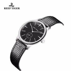 Image 3 - リーフ虎/rtカジュアルカップル腕時計シンプルなスタイルクォーツ腕時計女性のための超薄型ステンレスダイヤルRGA820