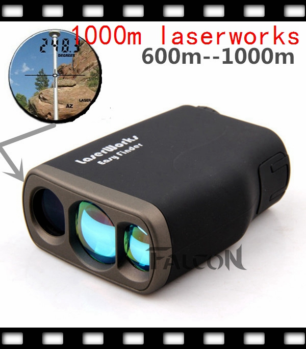 1000m laser range finder monocular telescope hunting goif font b rangefinder b font outdoor ranging speed