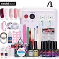 Modelones 35Pcs/Lot Full Nails Tools Set Soak Off 5 Colors Nail Gel Polish Fashion 36W UV Lamp Nail Art Manicure Kit Gel Varnish