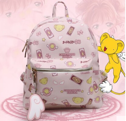 Anime Card Captor Cardcaptor Sakura Kinomoto Star Shoulder School Bag Backpack Gift japanese comic card captor sakura wings schoold backpack magical card girl sakura cosplay backpack sakura wings bag