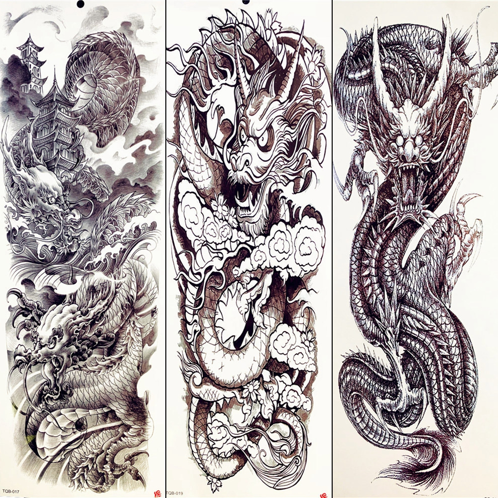 Sleeve Tattoo Artist: Sexy Totem Tattoo Summer Temporary Tattoo Chinese Black
