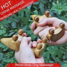Rosewood & Fragrant Wood Dog Massage Relax Abdominal Back Healthcare Massager 2pieces in 1 lot