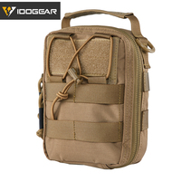 IDOGEAR Tactical Medical Pouch MOLLE First Aid EMT Utility Pouch IFAK Airsoft Hunting Nylon First Aid Bag 3523