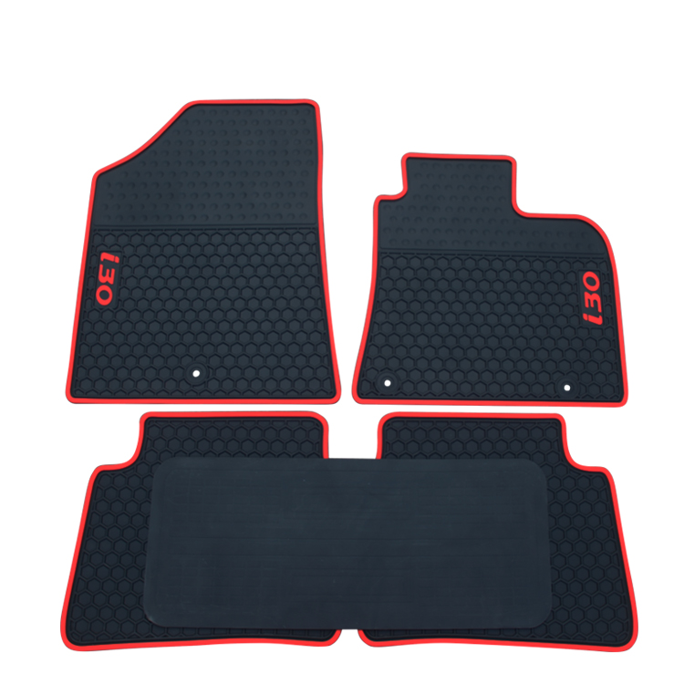 special rubber car floor mats for Hyundai I30 right hand drive durable waterproof cargo liner boot carpets for I30 RHD 5seats
