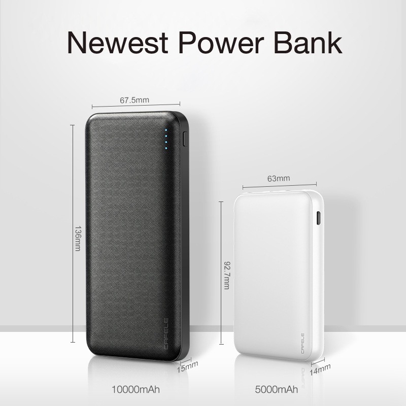Cafele <font><b>5000mAh</b></font> <font><b>Power</b></font> <font><b>Bank</b></font> Portable Charger External Battery Pack For iPhone Xiaomi mi Dual USB C Powerbank Ultra Thin Poverbank image