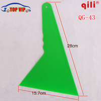 DHL free 50 pcs High-temperature durability with import POM Largest riangular squeegee with handle floor clean and industry tool