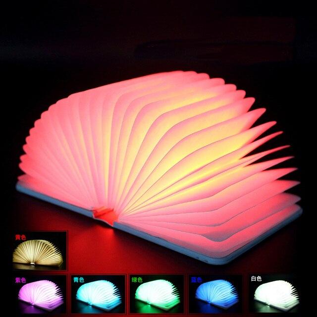 Creative colorful folding book lights color leather mini books the ...