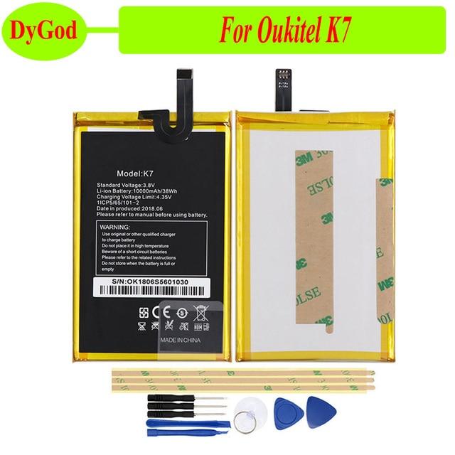 DyGod 10000 мАч для Oukitel K7 батареи для замены батареи Bateria для Oukitel K7 смартфон + Инструменты