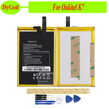 DyGod 10000mAh ل Oukitel K7 تبديل البطارية بطاريات Bateria ل Oukitel K7 هاتف ذكي + أدوات