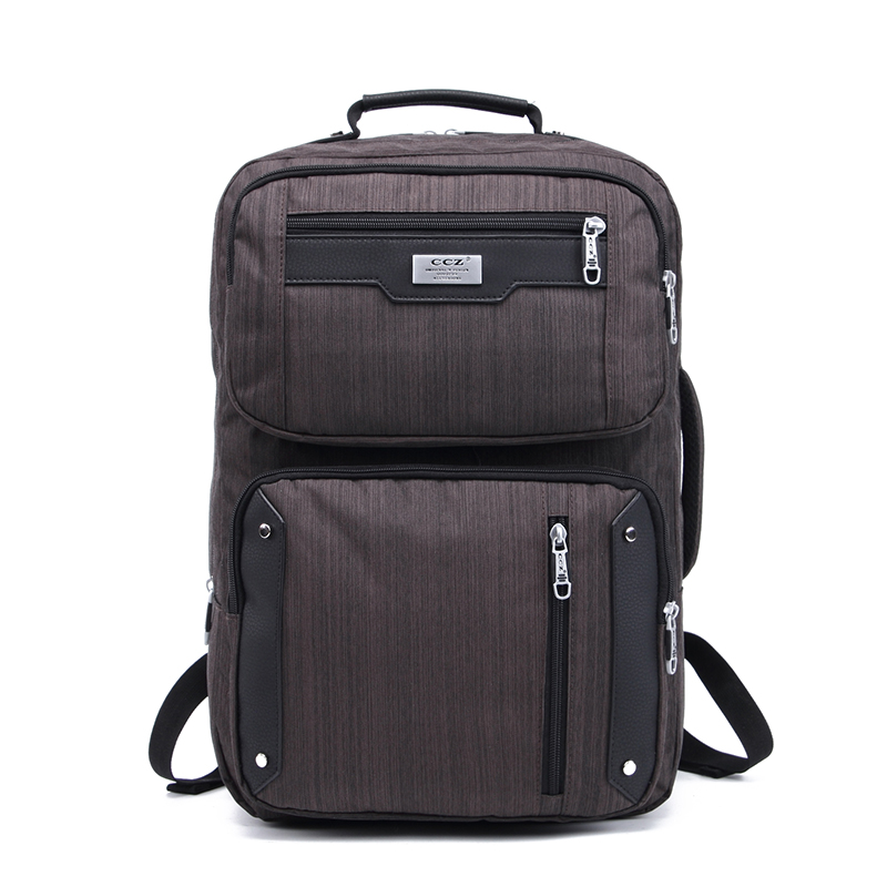 CCZ New Fashion Unisex Backpack Nylon Waterproof Backpack 14 inch Laptop Backpacks Physiological Curve Back Rucksack BK8021