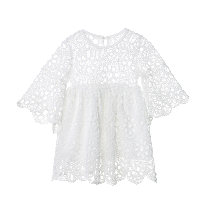Fashion Family Matching Clothes Mother Daughter Dresses Women Floral Lace Dress Baby Girl Mini Dress Mom Baby Girl Party Clothes 4