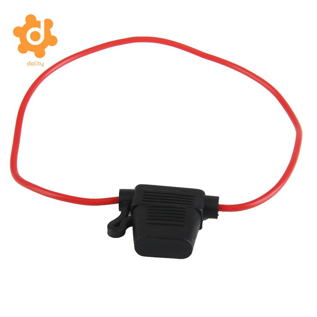 1 x In-line Mini Blade Fuse Holder Splash Proof 30A Cable Car Auto Bike Fuses