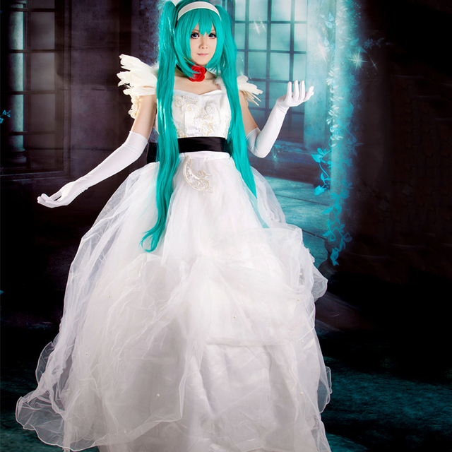 New Movie Deluxe White Cosplay Costume Cinderella Wedding Dress Bridal Adult Dresses