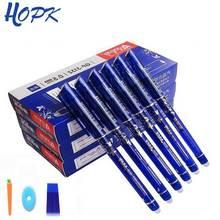 12/20 шт./компл. гелевая ручка 0,5 мм стираемая моющаяся ручка стираемая ручка с заправляемым стержнем стержень синего цвета с черными чернилами школьные канцелярские инструмент для письма