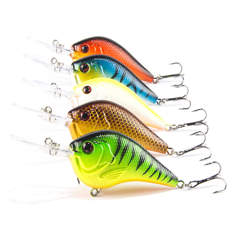 5Pc Fishing lure in bait Pesca Fishing Curling Deep Swimming Hard Baits Wobble Slow Floating Dock Fishing everything for fishing