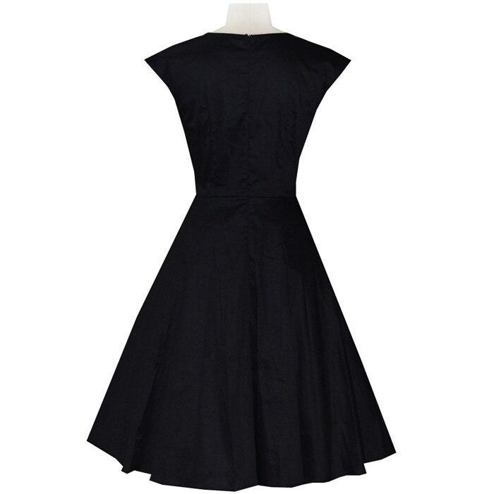 Европейская Винтаж 50 s 60 s рокабилли платье Audery Хепберн Платье хлопок качели бальное платье черный/ бордовый