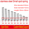 50pcs 0 6 10 35mm 0 6 35mm 0 6mm Stainless Steel Small Spot Spring Wire