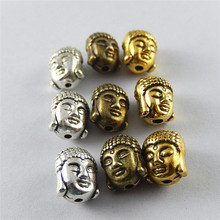 Wholesale 12pcs Antique Tone Bronze Gold Mixed Buddha Head Small Metal Jewelry Making Charms Necklace Bracelet
