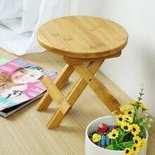 Небольшая скамейка из бамбука высокого качества, портативный рыболовный стул, деревянный складной стул, дешевая и Хорошая домашняя мебель