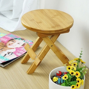 Image 1 - High quality Bamboo made Small Bench Portable Fishing Stool Wood Folding Stool Cheap and Good Home Furniture