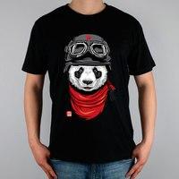 Happy Adventurer Panda T Shirt Top Pure Cotton Men T Shirt New Design High Quality