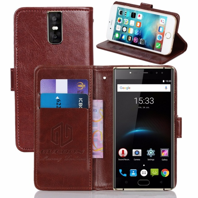 GUCOON Vintage Wallet Case for Oukitel K3 5.5inch PU Leather Retro Flip Cover Magnetic Fashion Cases Kickstand Strap