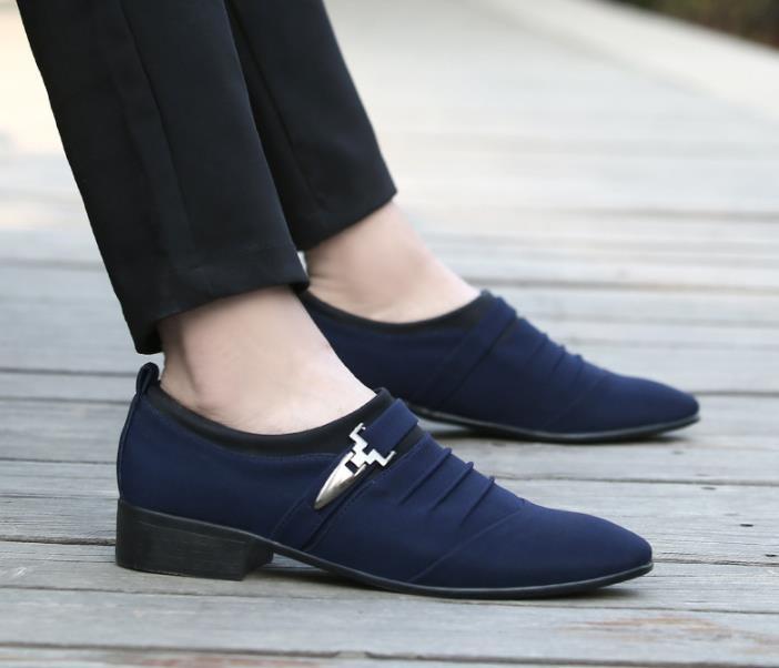 Verano Primavera Hombres Transpirable De Los 2018 Casuales Conjunto Y azul El Tamaño Nueva Tela Gran gris Lona Zapatos Negro Marino Pie qtngd81w