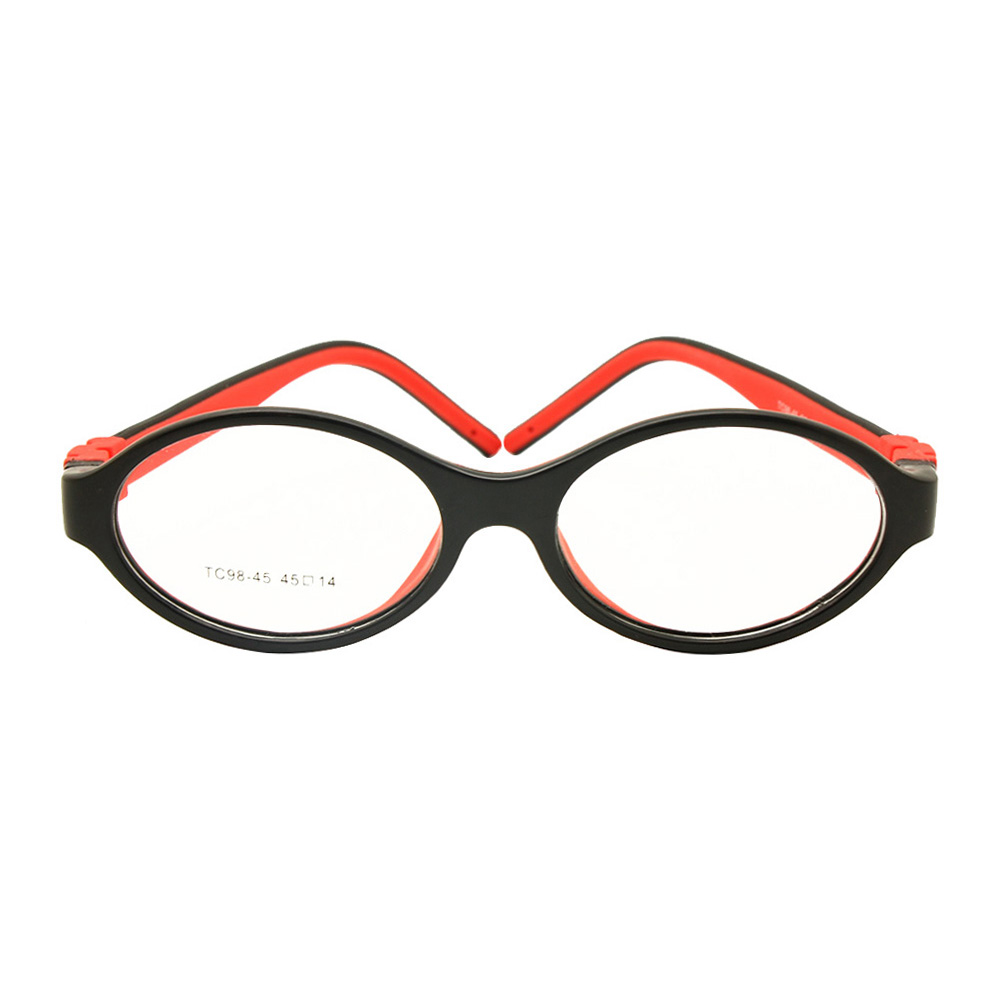 Silicone Glasses Frame Size 45mm No Screw Safe Flexible Optical Bendable Kids Eyeglasses Boys Girls-in Men's Eyewear Frames from Apparel Accessories