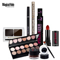 Magical Halo 7Pcs/lot Female Professional Makeup Cosmetic Set Eyeliner Gel Eyeshadow Eyebrow Pencil Powder Lipstick Mascara Kit