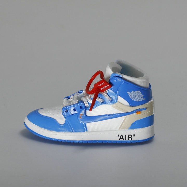 promo code 52ad2 319f9 US $6.06 30% OFF|Howplay AJ1 OW sneaker keychain 3D jordan backpack pendant  basketball shoes model creative gift for air jordan off white fans-in ...