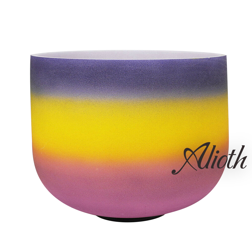 10 Inch Outside Rainbow Colored A Note Crystal Singing Bowl for Third Eye Chakra Balancing/Yoga/Meditation/Sound Therapy10 Inch Outside Rainbow Colored A Note Crystal Singing Bowl for Third Eye Chakra Balancing/Yoga/Meditation/Sound Therapy
