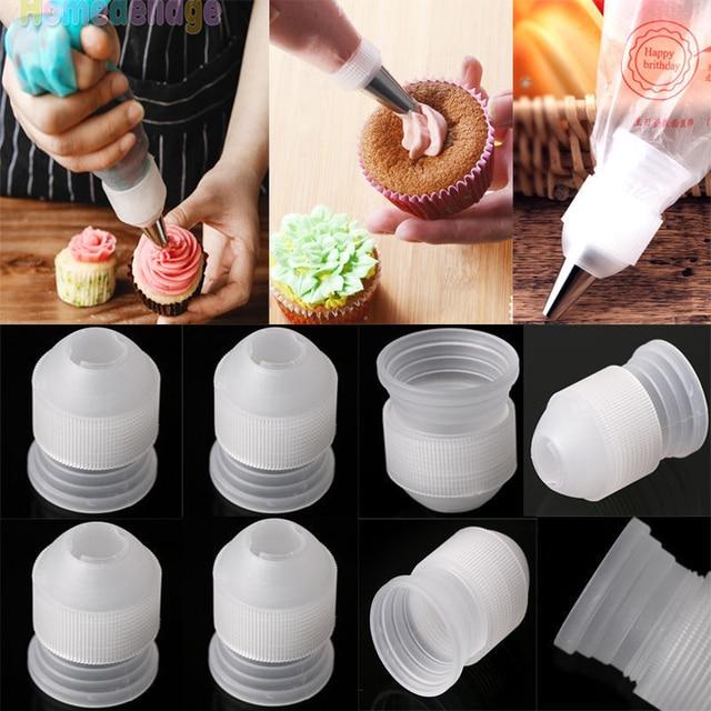 10 adet plastik dekorasyon ağız dönüştürücü adaptör şekerleme pasta İpuçları bağlantı memesi setleri kek araçları pişirme