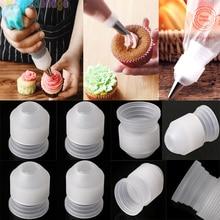 10 قطعة البلاستيك تزيين الفم محول محول الحلويات المعجنات نصائح موصل فوهة مجموعات أدوات كعكة الخبز