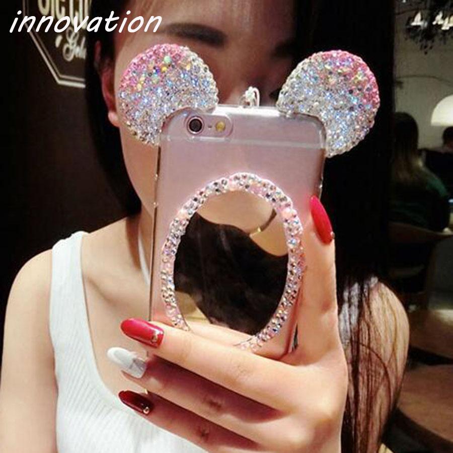 HTB1VzeMSFXXXXXWapXXq6xXFXXXD - Luxury Crystal Mirror Glitter Rhinestone Mickey Ears Phone Cases PTC 179