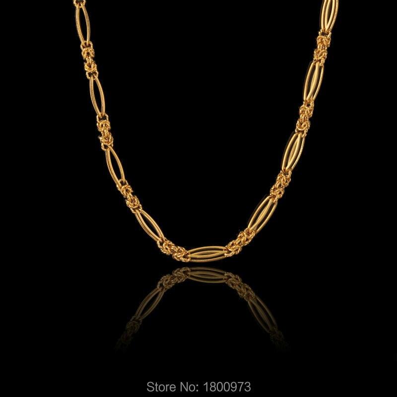 4f15bb5f66d93 جديد خمر الذهب سلسلة حبل قلادة الأزياء والمجوهرات النساء الرجال لون الذهب  المختنقون القلائد بالجملة
