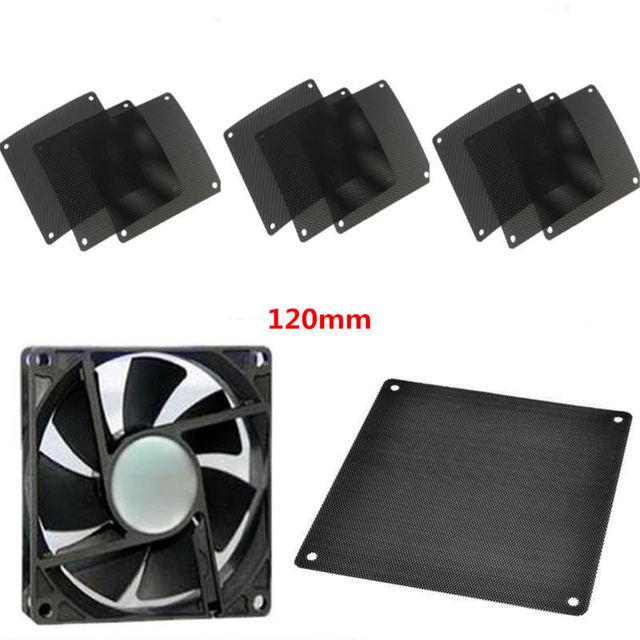 10pcs/set 120mm PVC PC case Fan Cooler Dust Filter Dustproof Cover Computer Mesh