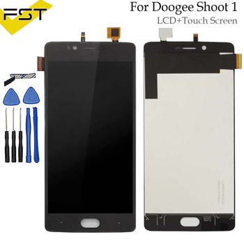 Per Doogee Sparare 1 Display LCD + Touch Screen 100% Tested LCD Digitizer Vetro del Pannello di Ricambio Per Doogee Sparare 1 + strumento + adhesive